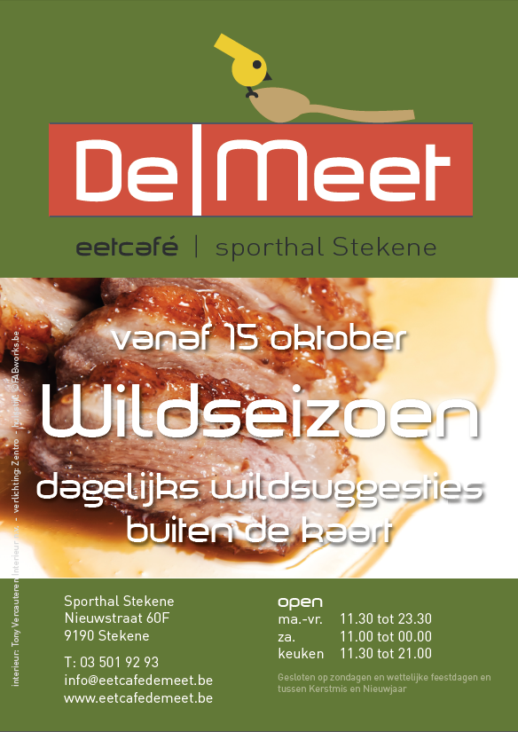 DeMeet flyer lunchmenu 2