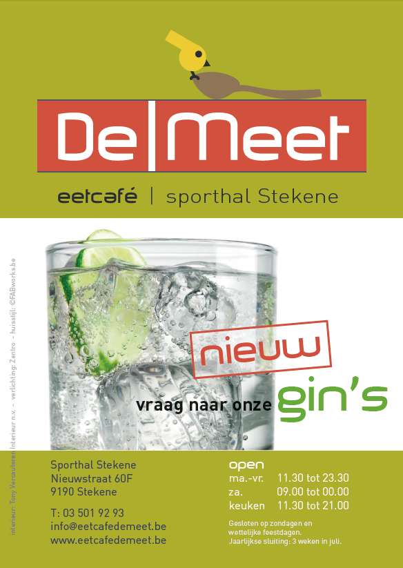 DeMeet flyer lunchmenu 1