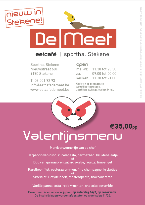 DeMeet flyer lunchmenu 5